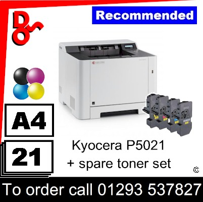 """Special Offer"" NEW Kyocera P5021cdn Colour A4 Printer plus a spare set of toners UK Next day delivery for sale Crawley, West Sussex & Surrey"