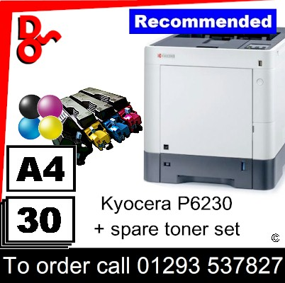 """Special Offer"" NEW Kyocera P6230 Colour A4 Printer plus a spare set of toners UK Next day delivery for sale Crawley, West Sussex & Surrey"